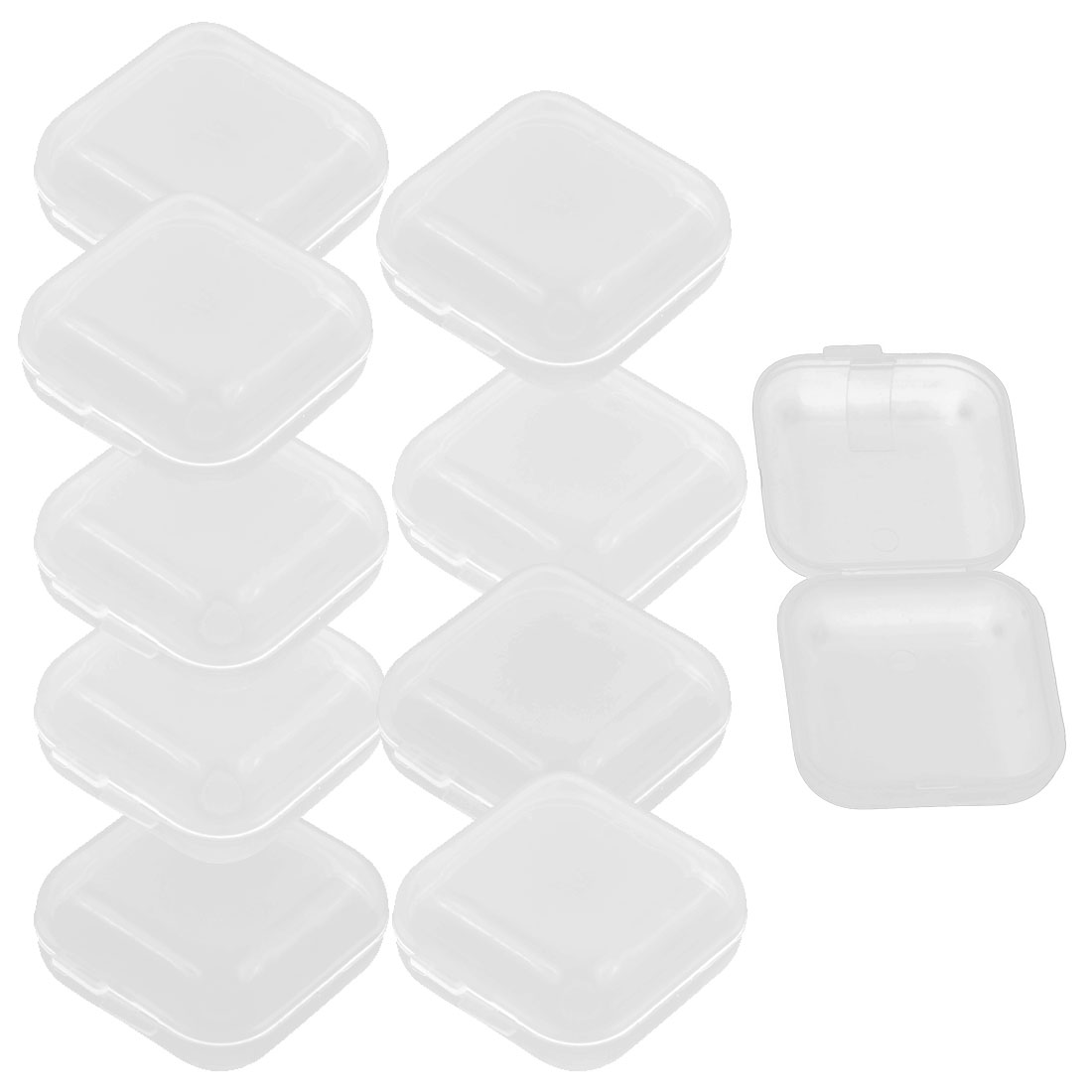 Mobile Phone SD SIM Compact Flash Cards Box Case Storage Container Clear 10 PCS