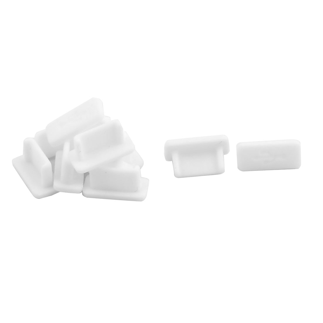 Laptop Rubber Female Port Anti Dust Cover Cap White 10pcs for USB Type C
