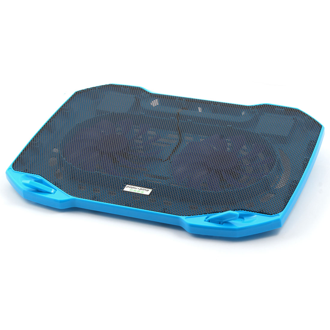 F2 PC Quiet Airflow Radiator Cooling Pad w Double Cooling Fans Blue for 14 Inch Laptop