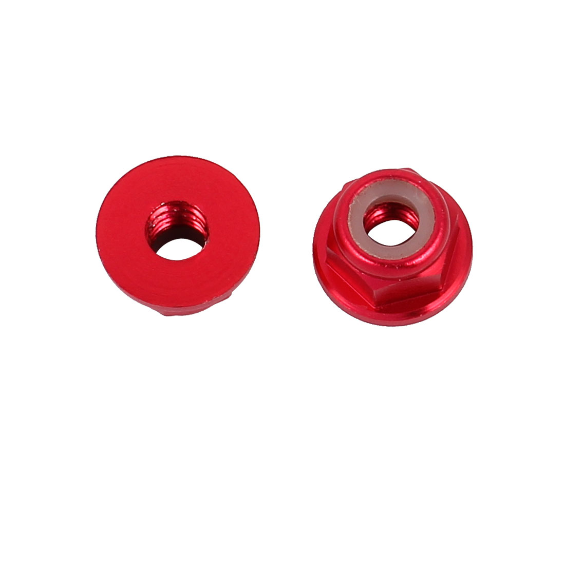 M4 Aluminum Alloy Wine Red Flange Nut For RC Remote Vehicle DIY 2 Pcs