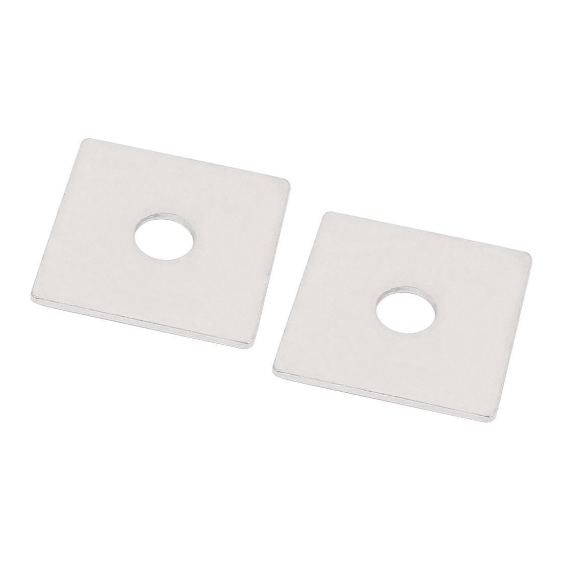 M10 x 40mm Square Stainless Steel Flat Repair Plate Silver Tone 2pcs