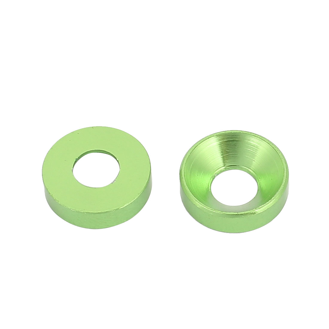 M5 Aluminum Alloy Green Countersunk Head Screw Spacer For RC DIY 2 Pcs