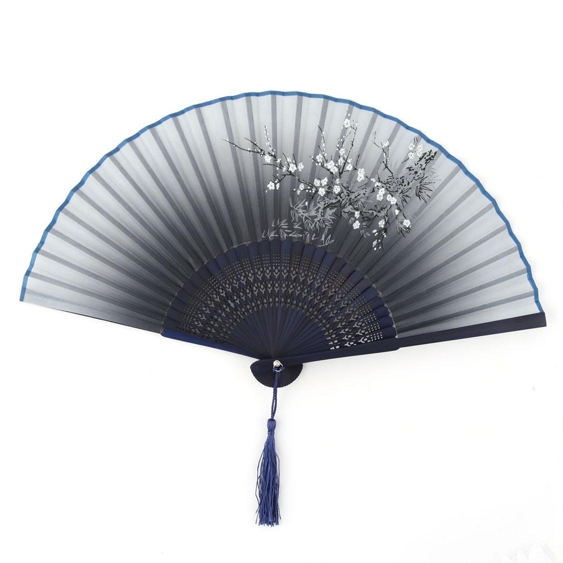 Party Dancing Bamboo Frame Blossom Pattern Elegant Pocket Purse Folding Fan