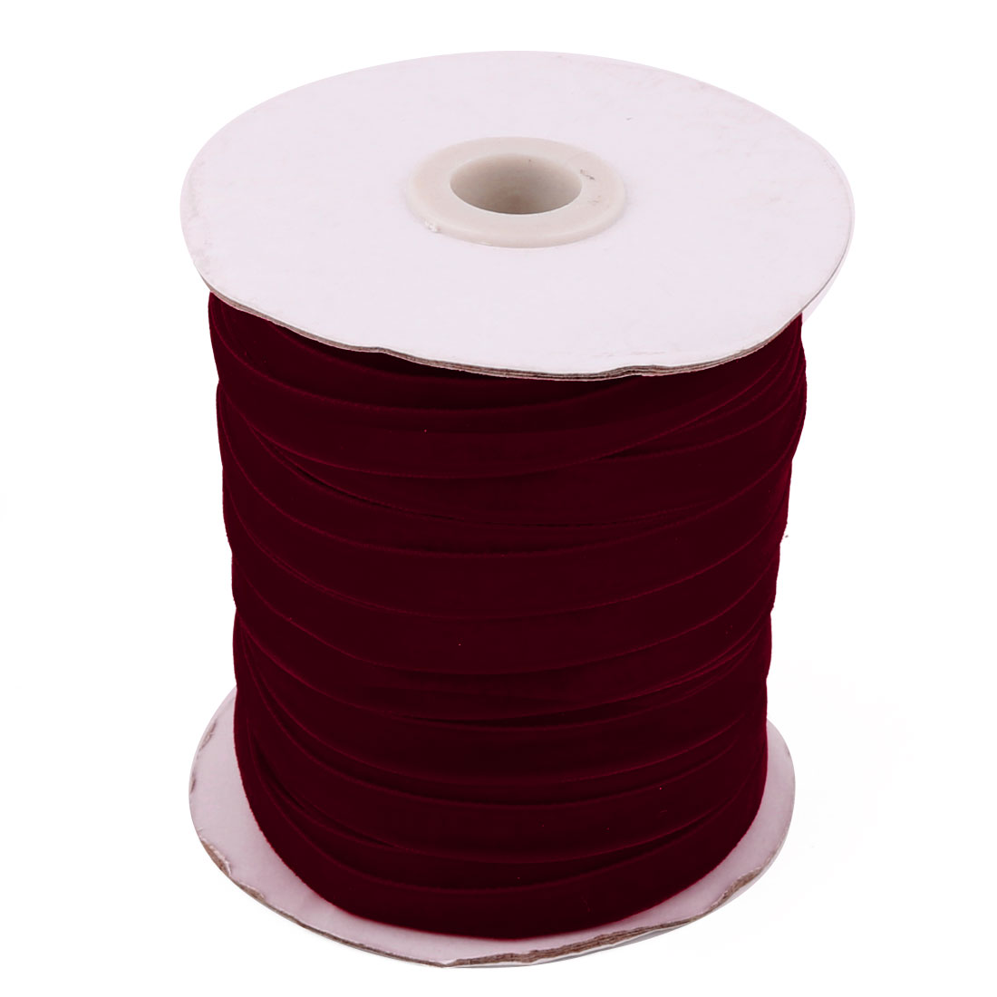 Festival Party Decoration Velvet Ribbon Round Roll Burgundy 50 Yard 1cm Width