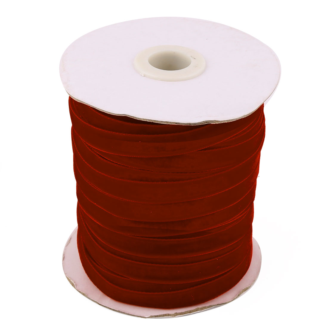 Festival Party Decoration Velvet Ribbon Round Roll Red 50 Yard 1cm Width