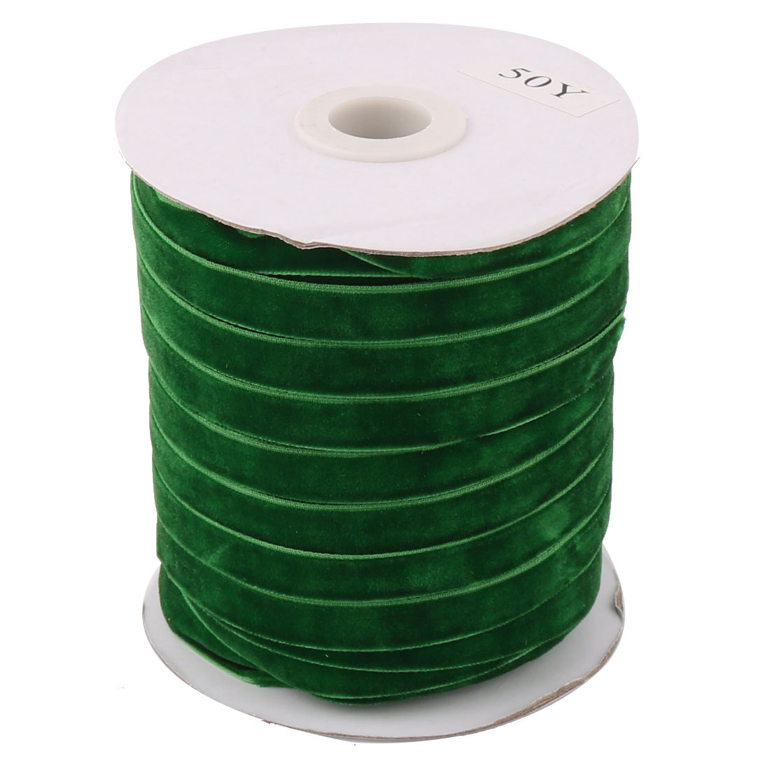 Festival Party Decoration Velvet Ribbon Round Roll Lawn Green 50 Yard 1cm Width