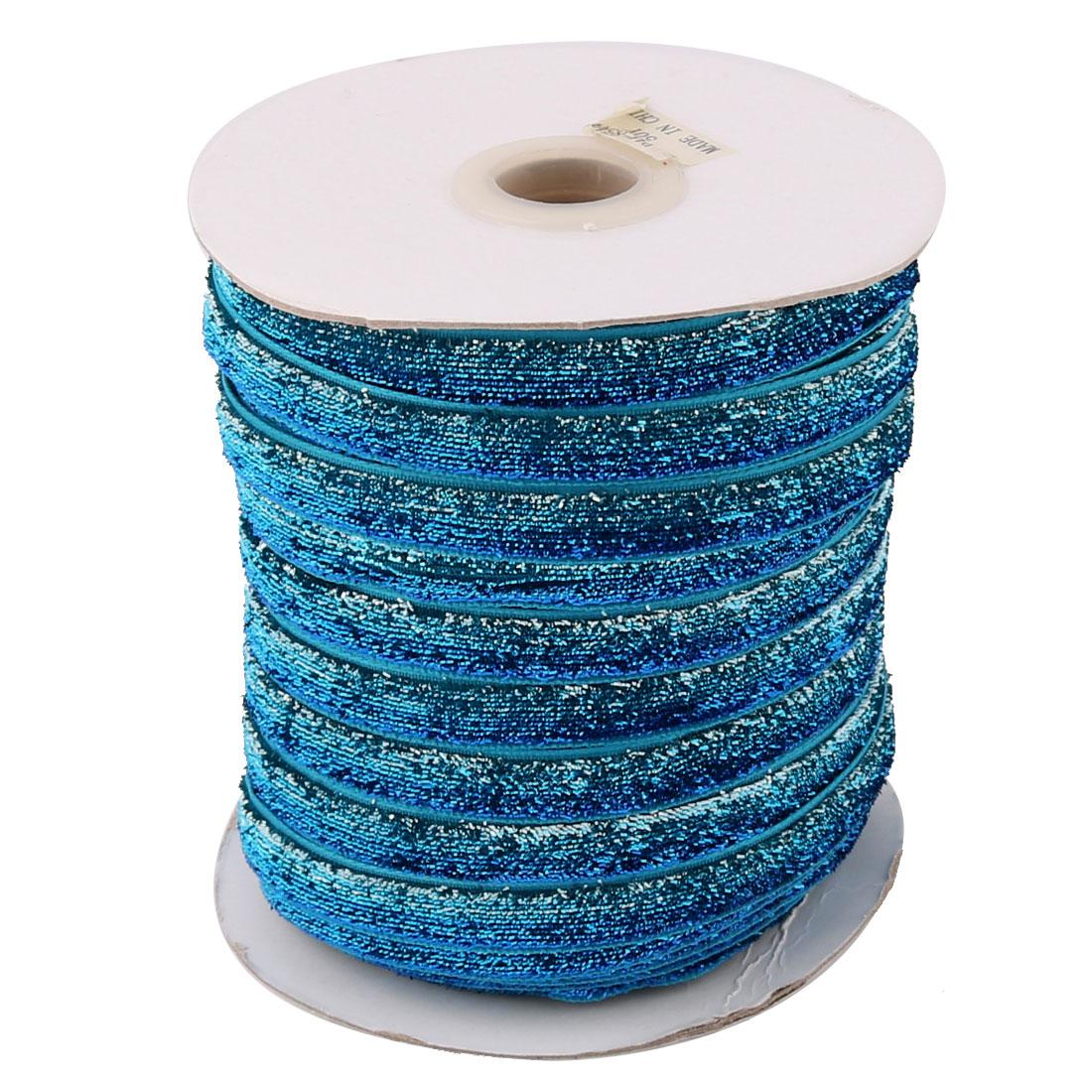 Household Decoration Velvet Sparkle Ribbon Multifunction DIY Gift Blue Teal