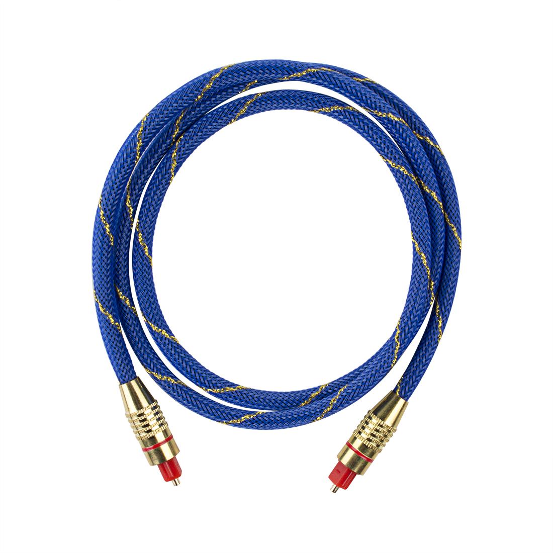 Premium Gold Plated Digital Optical Fiber Audio Cable TV Cord OD 6.0 SP 1M Length