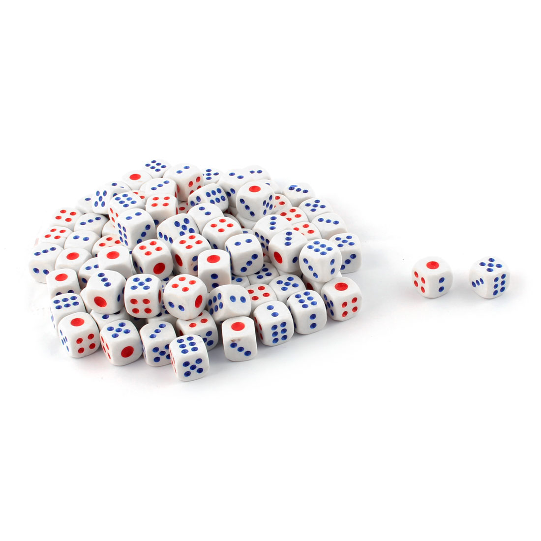 Entertainment Guessing Game Plastic Bar Casino Playing Dices White 0.6 Inches 100 Pcs