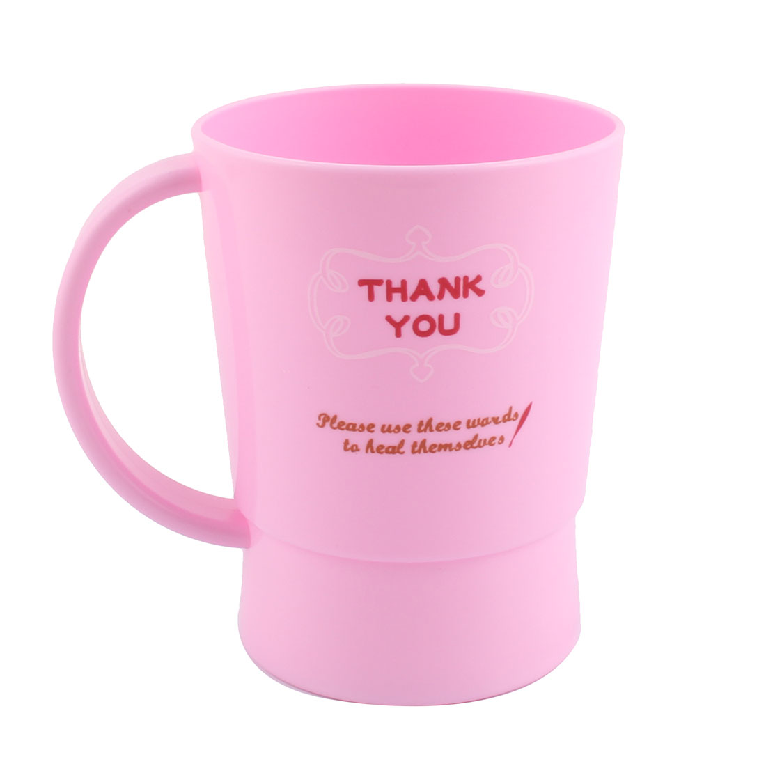 Household Bathroom Plastic Water Glass Toothbrush Toothpaste Gargle Cup Pink