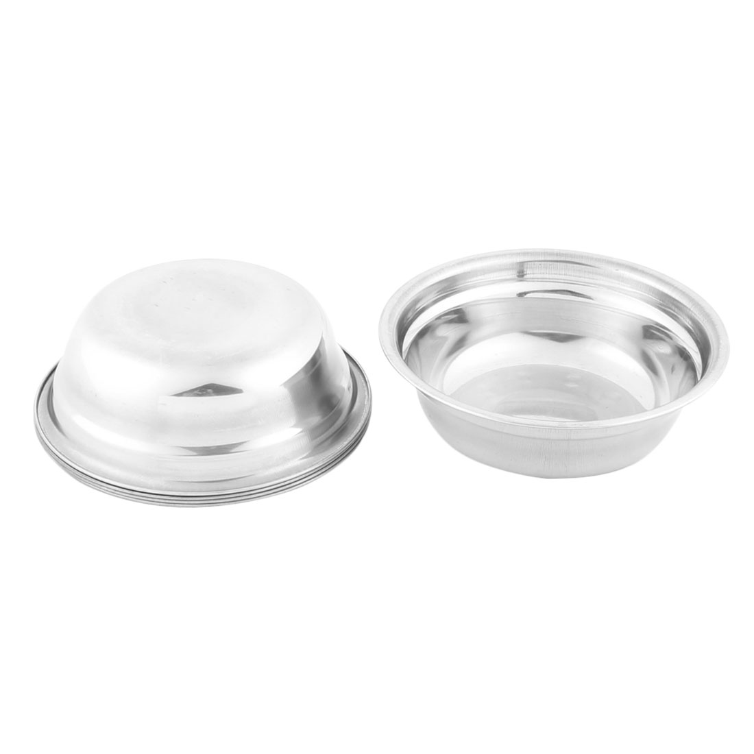 Home Tableware Stainless Steel Dinner Food Bowl Soup Basin 5.8 Inches Dia 5 Pcs