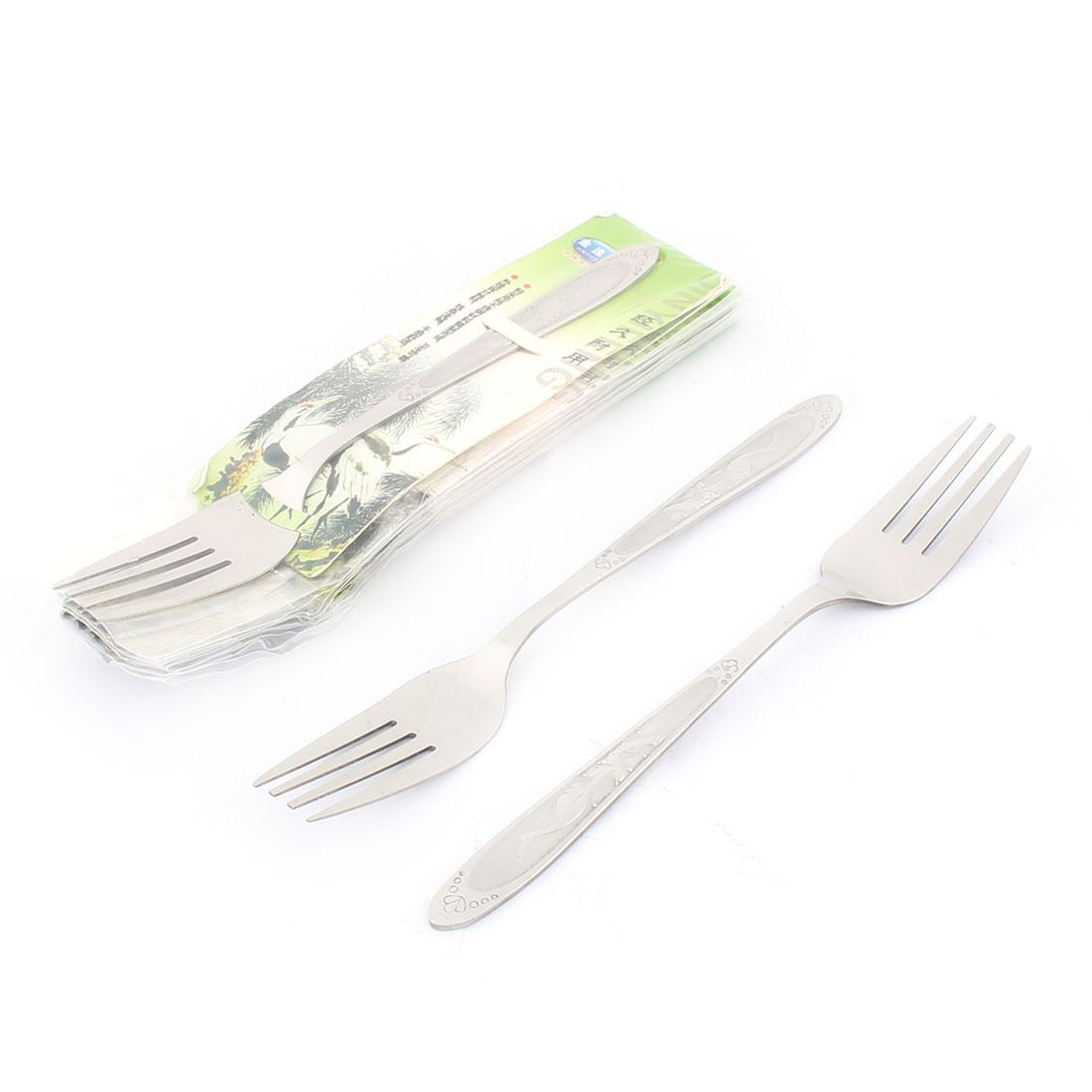 Household Tableware Stainless Steel Dinner Fork 7.3 Inches Length 8 Pcs