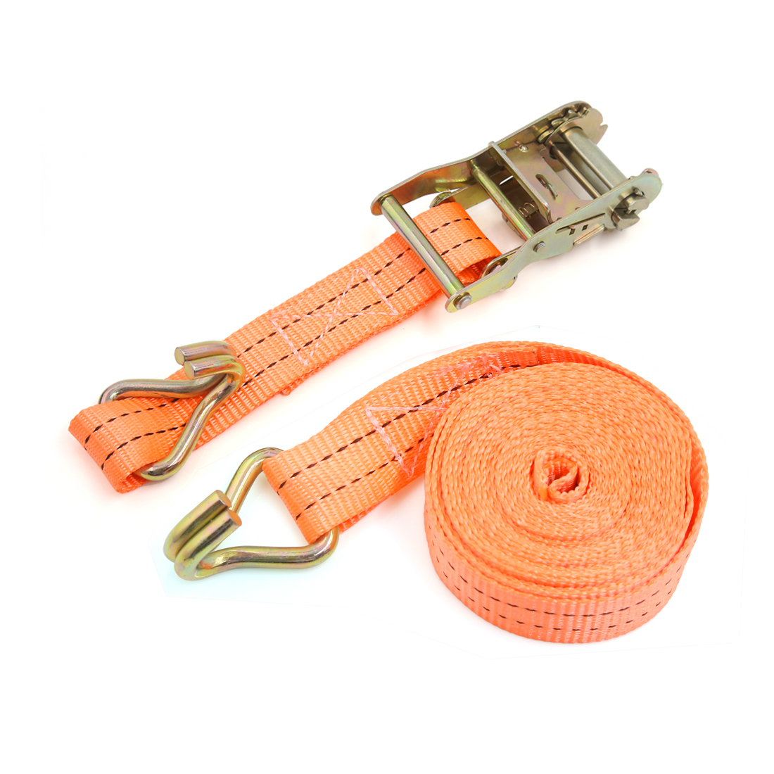 2000kg Capacity 4M Long Tie Down Motorcycle Car Truck Bungee Straps Cords Orange