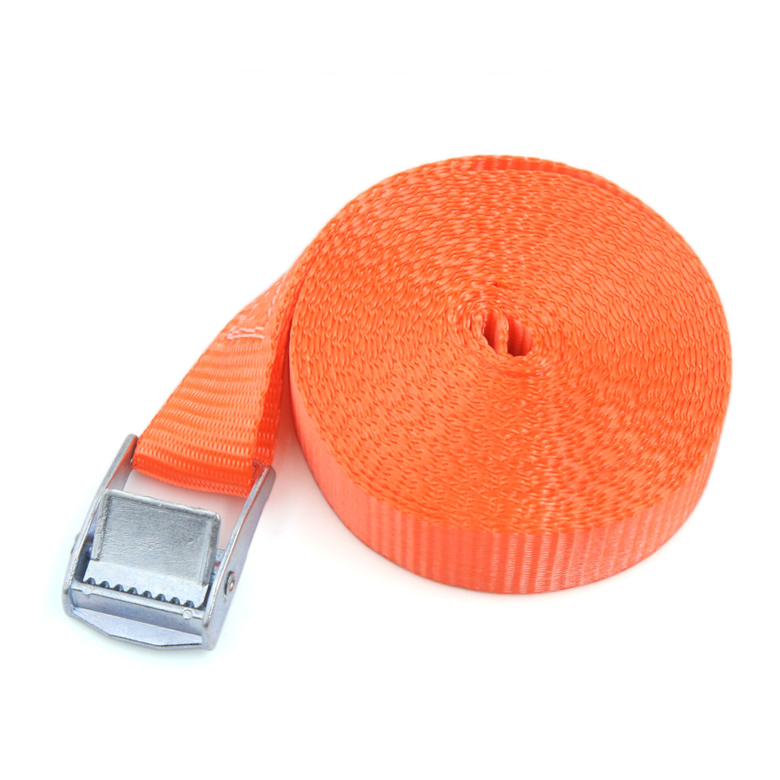5M x 25MM Metal Cam Buckle Tie Down Straps Cargo Lash Luggage Bag Belt Orange