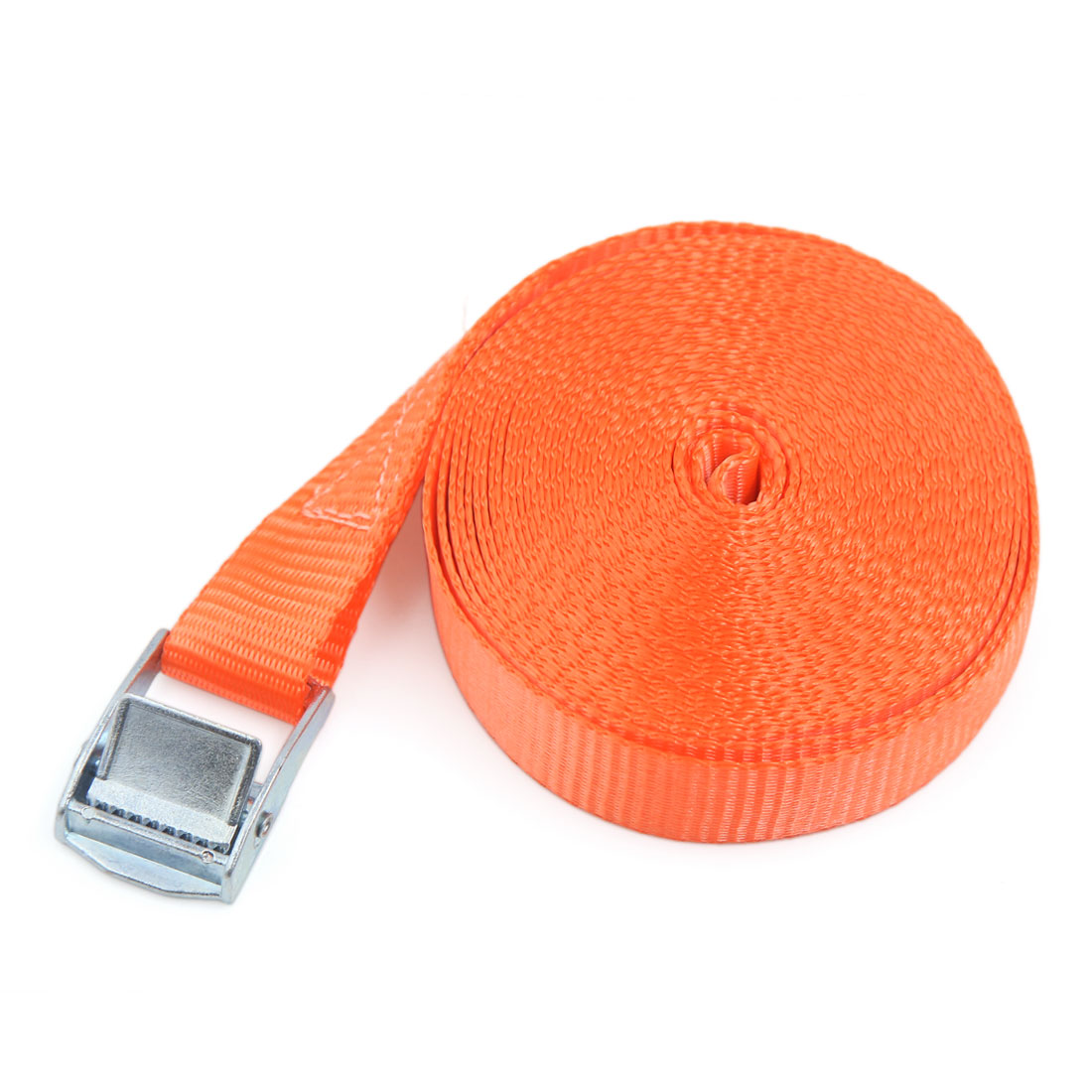 7M x 25MM Metal Cam Buckle Tie Down Straps Cargo Lash Luggage Bag Belt Orange