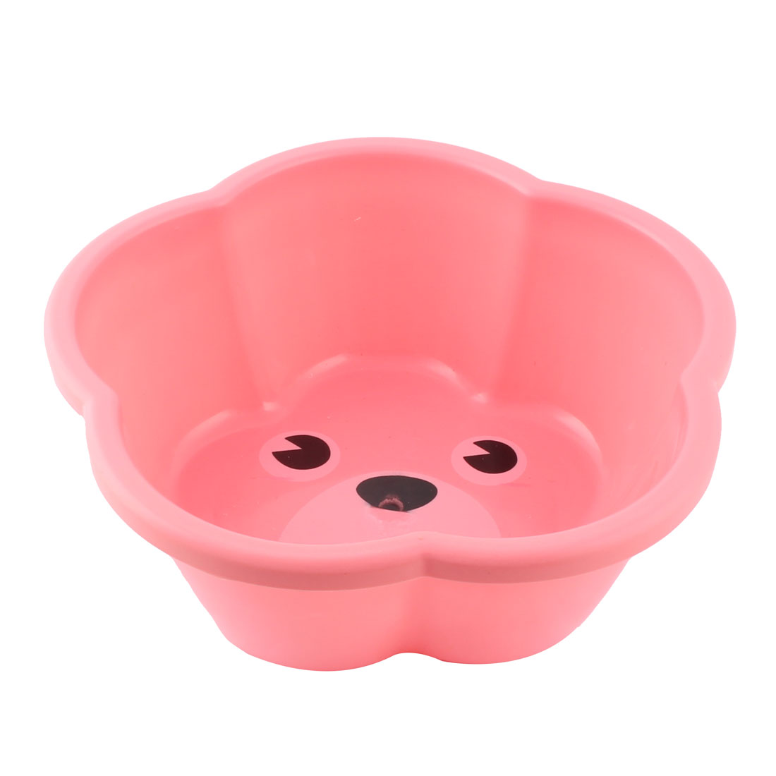 Family Kitchen Petals Shape Anti Slip Design Washing Bowl Wash Basin Pink