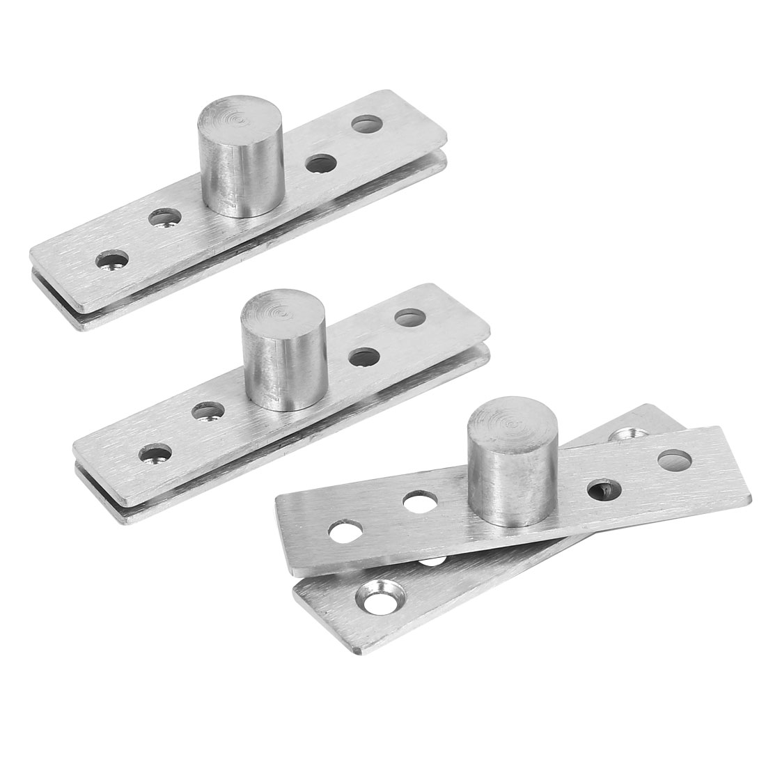 75mm Length 360 Degree Rotation Hidden Stainless Steel Wooden Door Pivot Hinges 3pcs