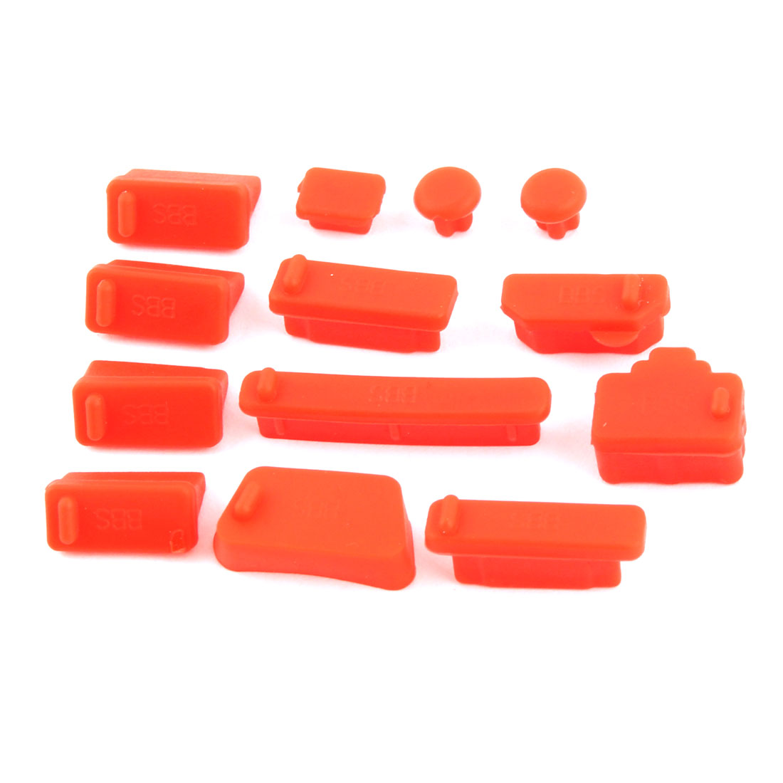 Computer Silicone Universal Dust Stopper Cover Notebook Anti Dust Connector Cap Set Red 13 in 1