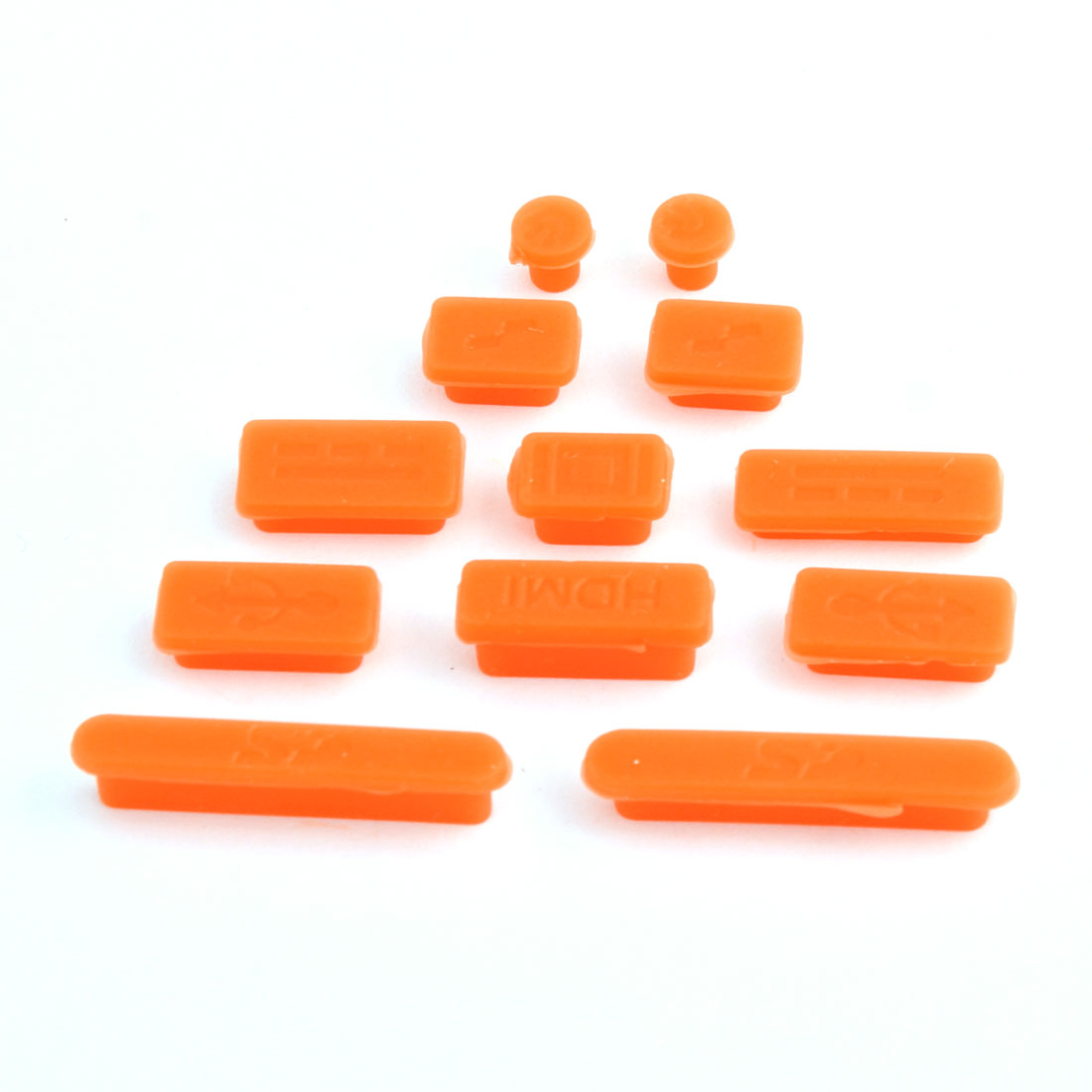 Computer Silicone Anti-Dirt Cover Notebook Anti Dust Connector Set Orange 12 in 1 for Macbook Retina