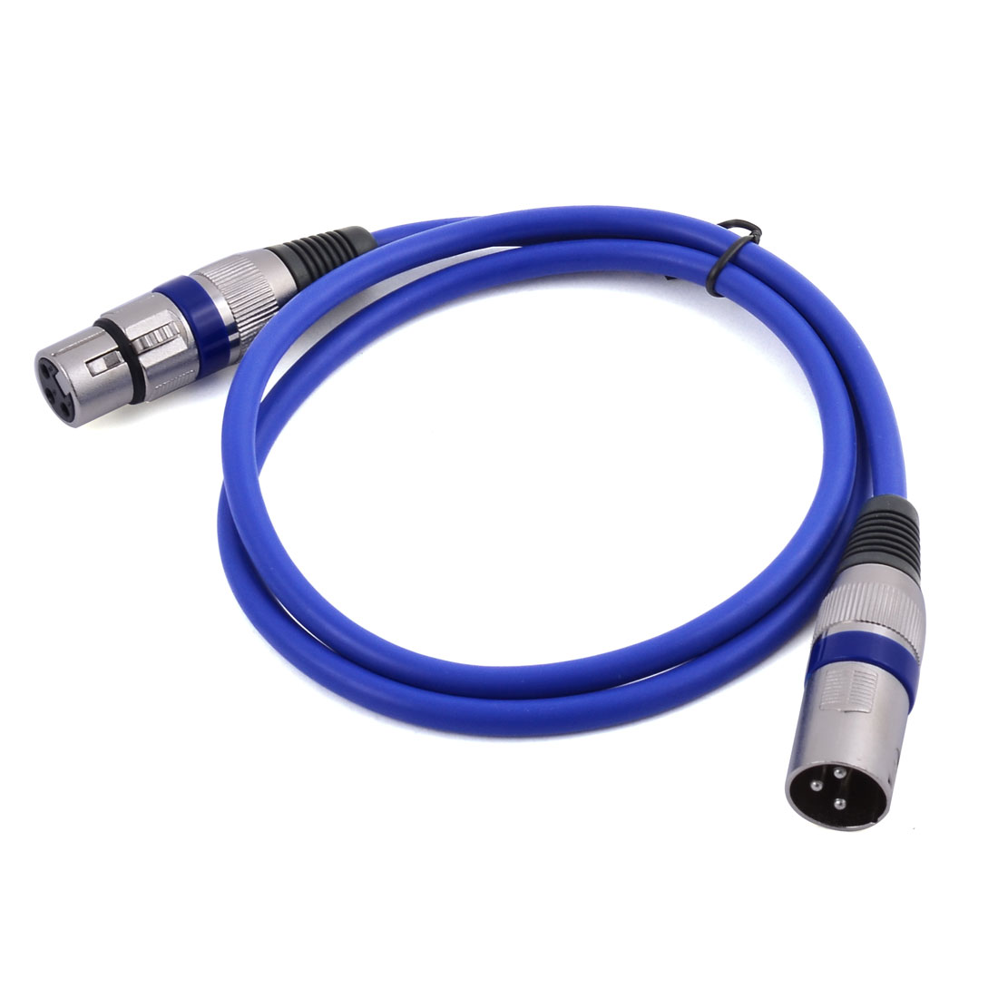 Microphone Lead XLR Male to Female Mixer Extension Cable Cord Blue 3.3Ft Length