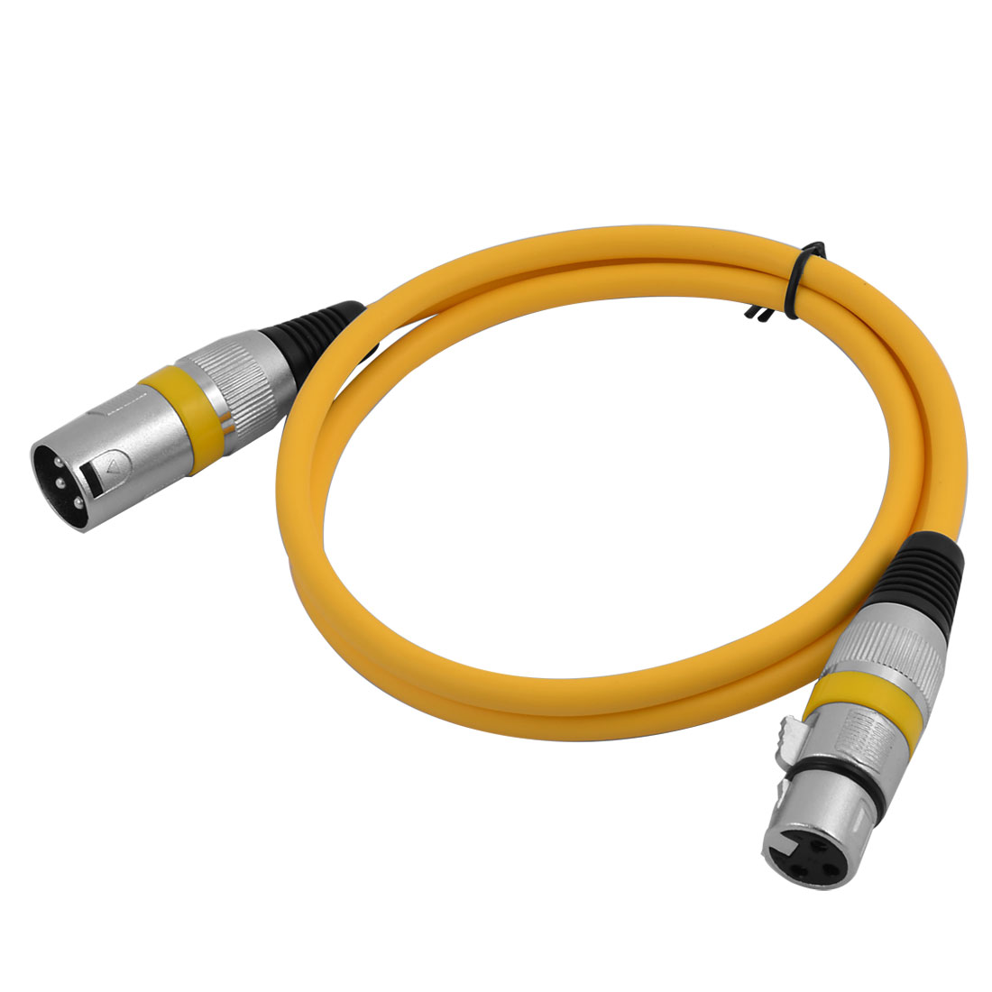 Microphone Audio XLR Male to Female Mixer Extension Cable Cord Yellow 3.3Ft Length