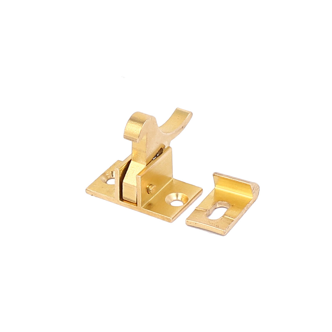 Home Windows Compression Spring Loaded Toggle Latch Catch Brass Tone