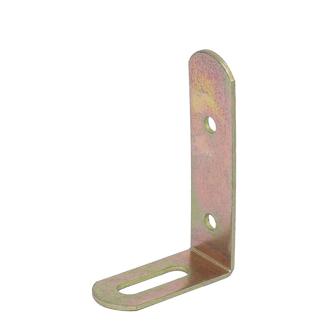69mmx43mmx19mm L Shape Angle Bracket Corner Brace Fastener Bronze Tone
