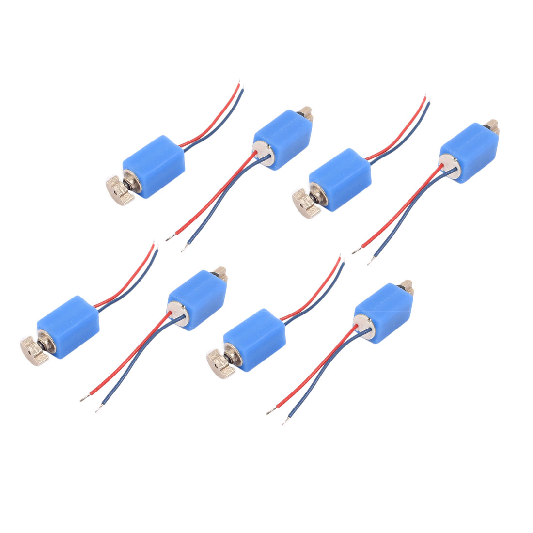 8 Pcs DC 3V 4 x 8mm 3500RPM Mini Vibration Motor Blue for Cell Phone