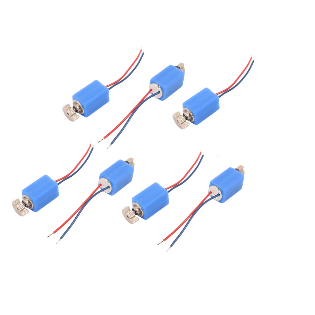 7 Pcs DC 3V 4 x 8mm 3500RPM Mini Vibration Motor Blue for Cell Phone