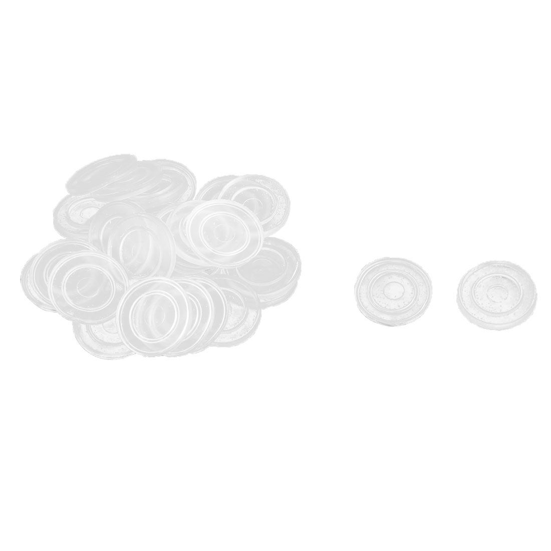 Household Furniture Rubber Round Glass Table Non Slip Dash Mat Pad Clear 30pcs