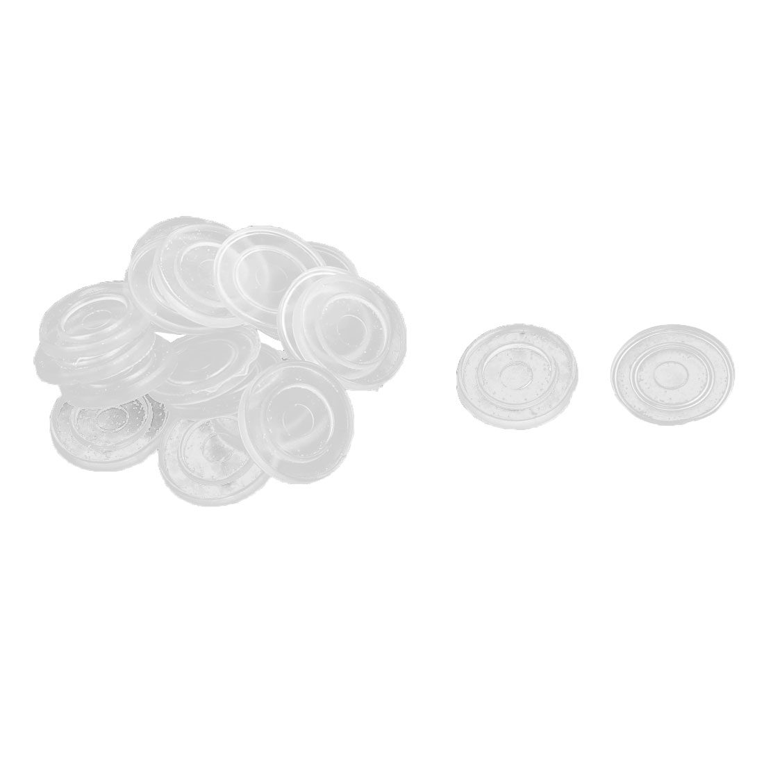 Home Furniture Rubber Round Glass Tea Table Non Slip Dash Mat Pads Clear 20pcs