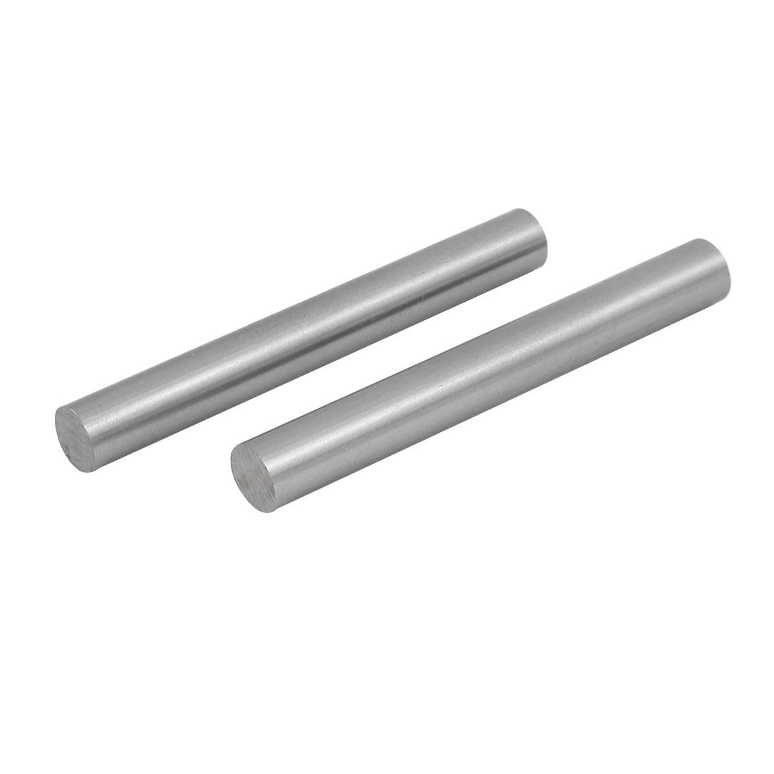 12mm Dia 100mm Length HSS Round Shaft Rod Bar Lathe Tools Gray 2pcs