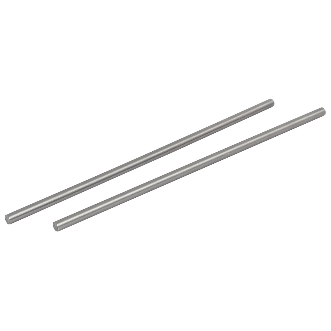 5mm Dia 200mm Length HSS Round Shaft Rod Bar Lathe Tools Gray 2pcs