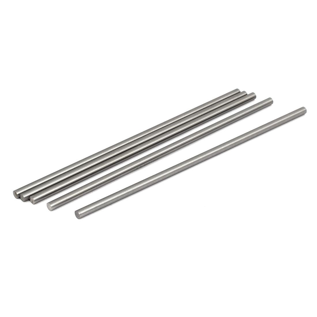 5mm Dia 200mm Length HSS Round Shaft Rod Bar Lathe Tools Gray 5pcs
