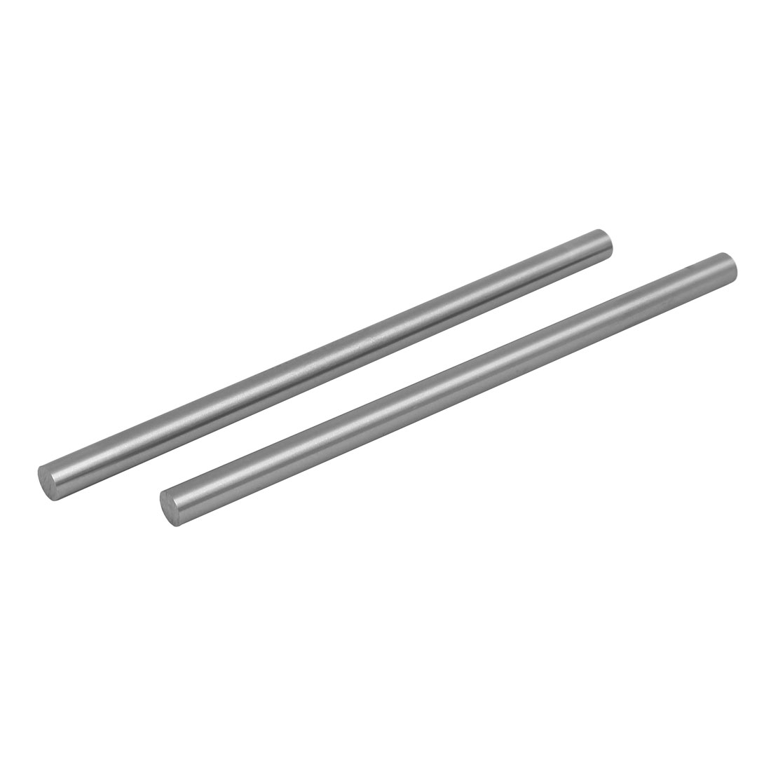 10mm Dia 200mm Length HSS Round Shaft Rod Bar Lathe Tools Gray 2pcs
