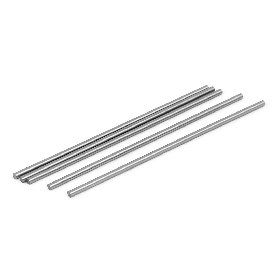 2.5mm Dia 100mm Length HSS Round Shaft Rod Bar Lathe Tools Gray 5pcs
