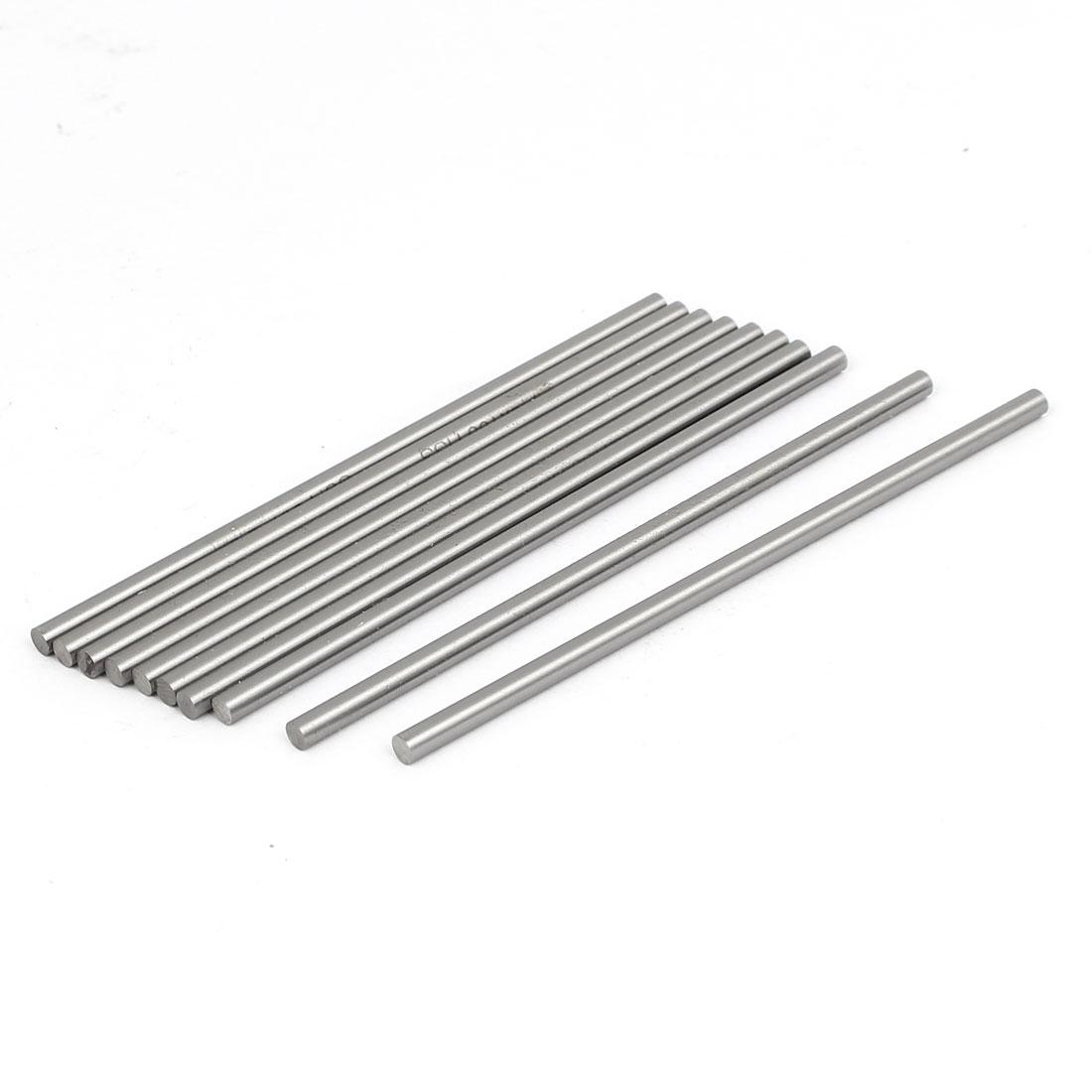 3.5mm Dia 100mm Length HSS Round Shaft Rod Bar Lathe Tools Gray 10pcs