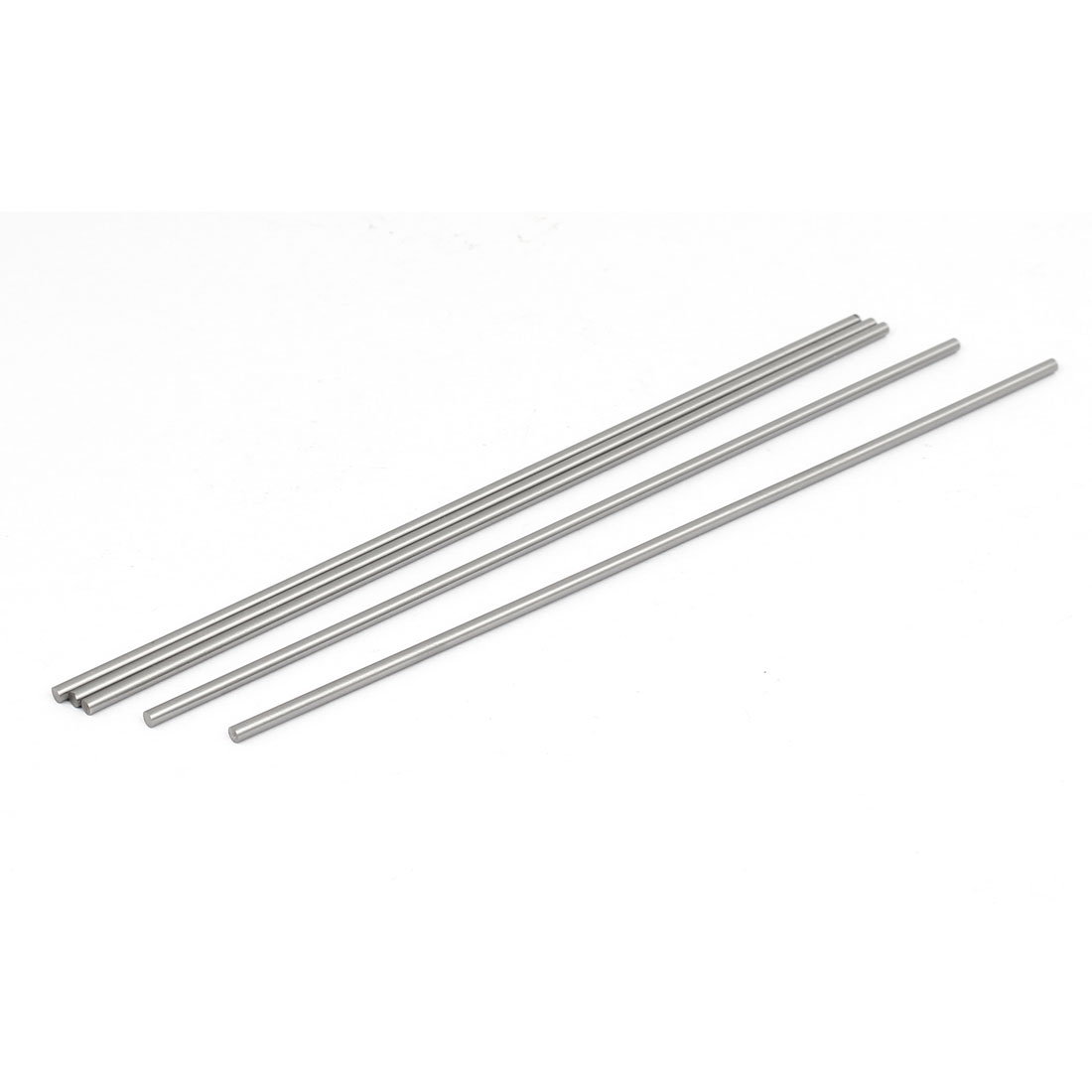 3mm Dia 200mm Length HSS Round Shaft Rod Bar Lathe Tools Gray 5pcs