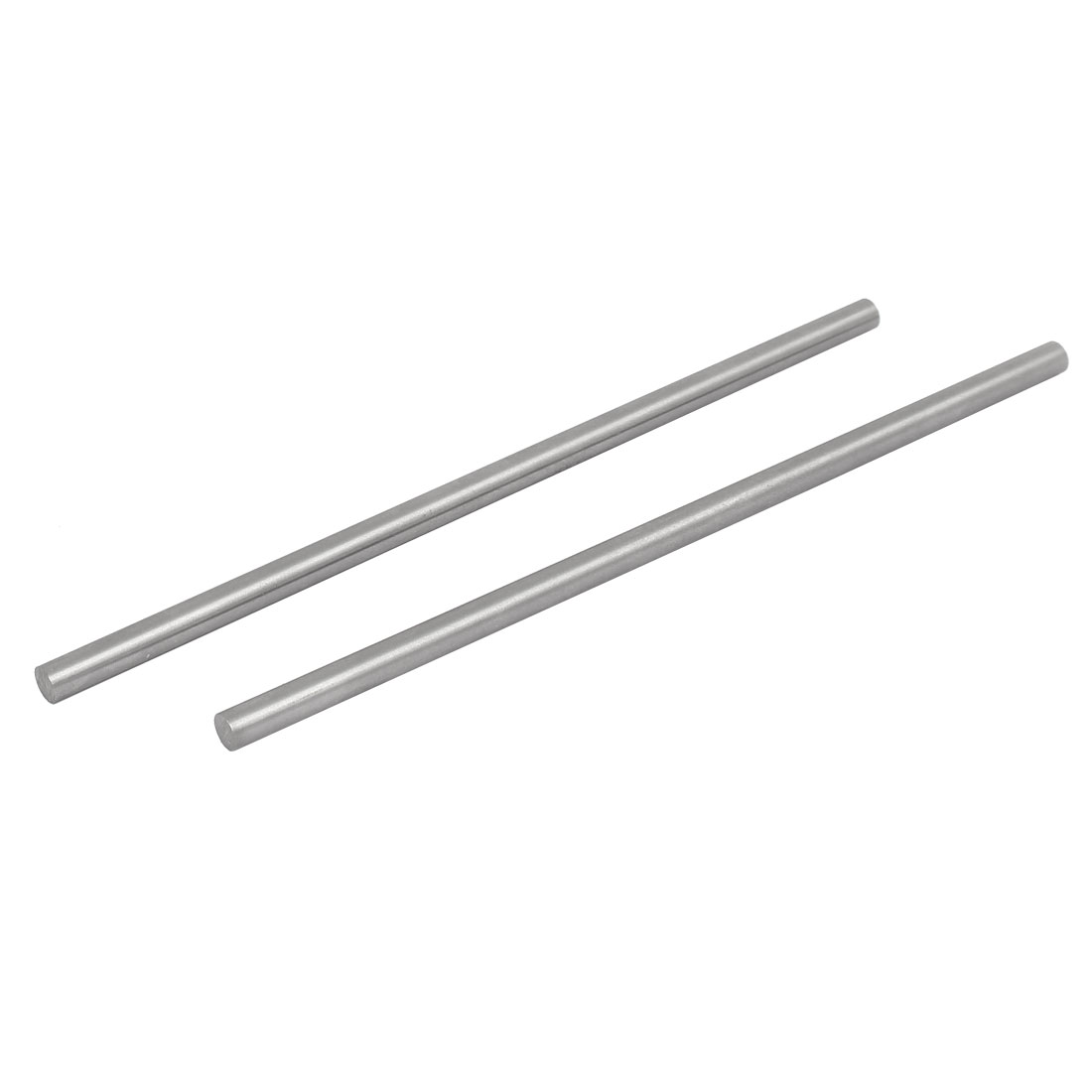 7mm Dia 200mm Length HSS Round Shaft Rod Bar Lathe Tools Gray 2pcs