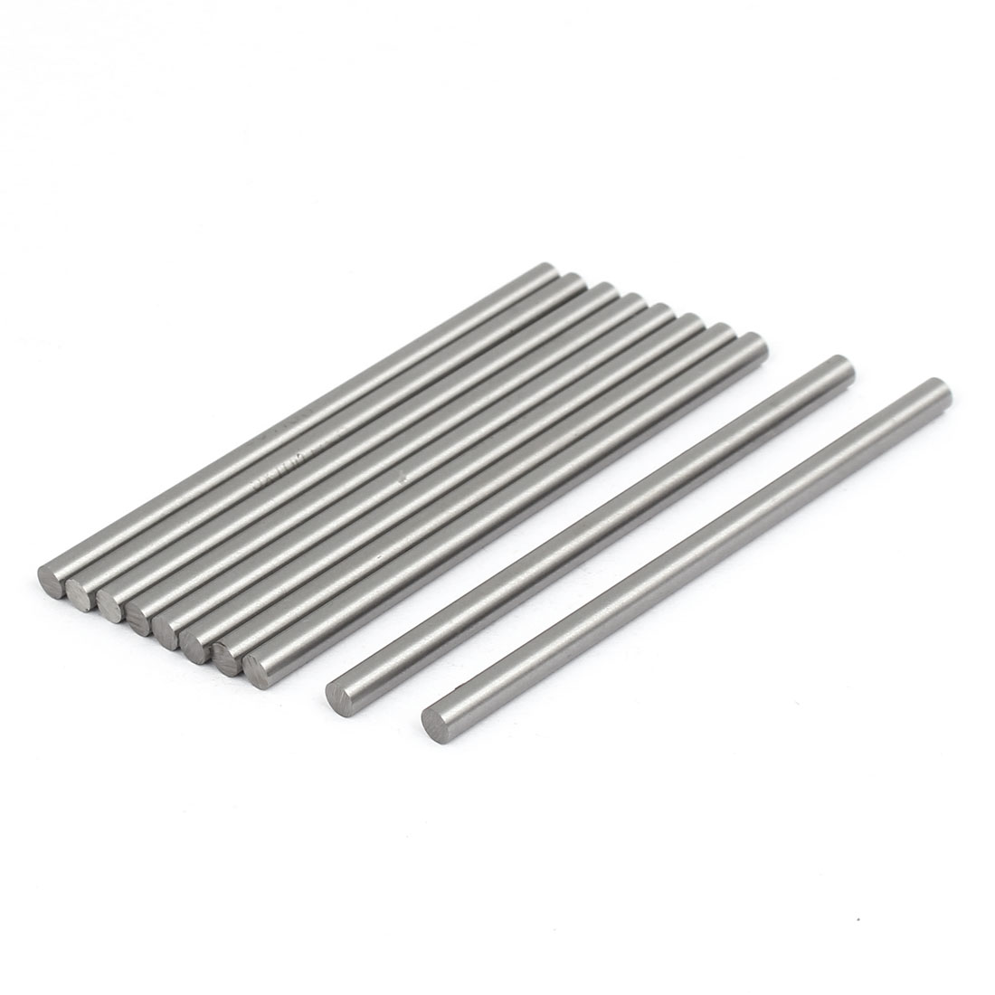 5mm Dia 100mm Length HSS Round Shaft Rod Bar Lathe Tools Gray 10pcs