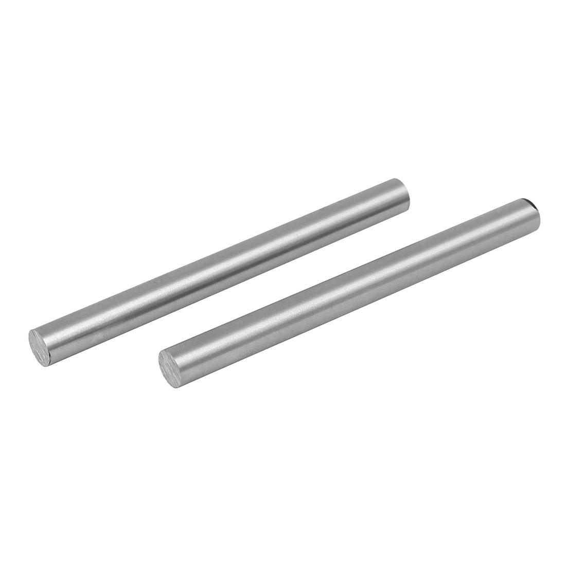 8.5mm Dia 100mm Length HSS Round Shaft Rod Bar Lathe Tools Gray 2pcs