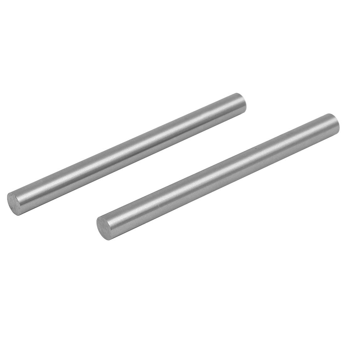 8mm Dia 100mm Length HSS Round Shaft Rod Bar Lathe Tools Gray 2pcs