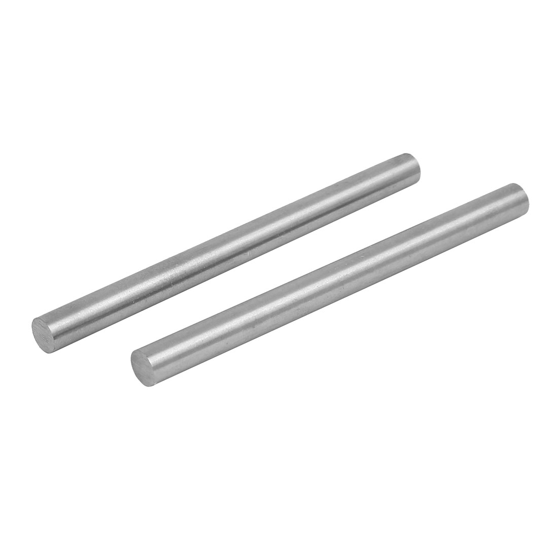7.5mm Dia 100mm Length HSS Round Shaft Rod Bar Lathe Tools Gray 2pcs