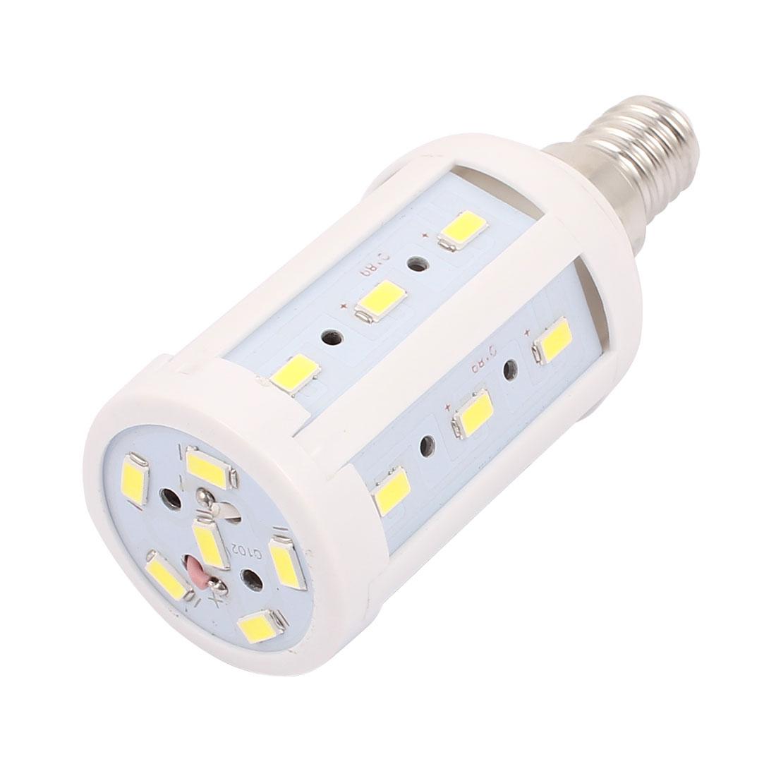 AC 85-265V 5W 5730SMD LED E14 Energy Saving Corn Light Bulb Lamp Pure White