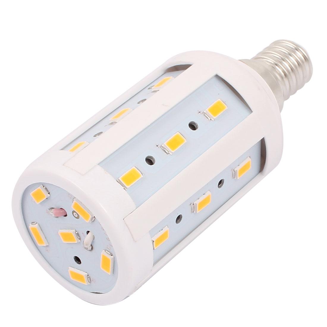 AC 85-265V 5W 5730SMD LED E14 Energy Saving Corn Light Bulb Lamp Warm White