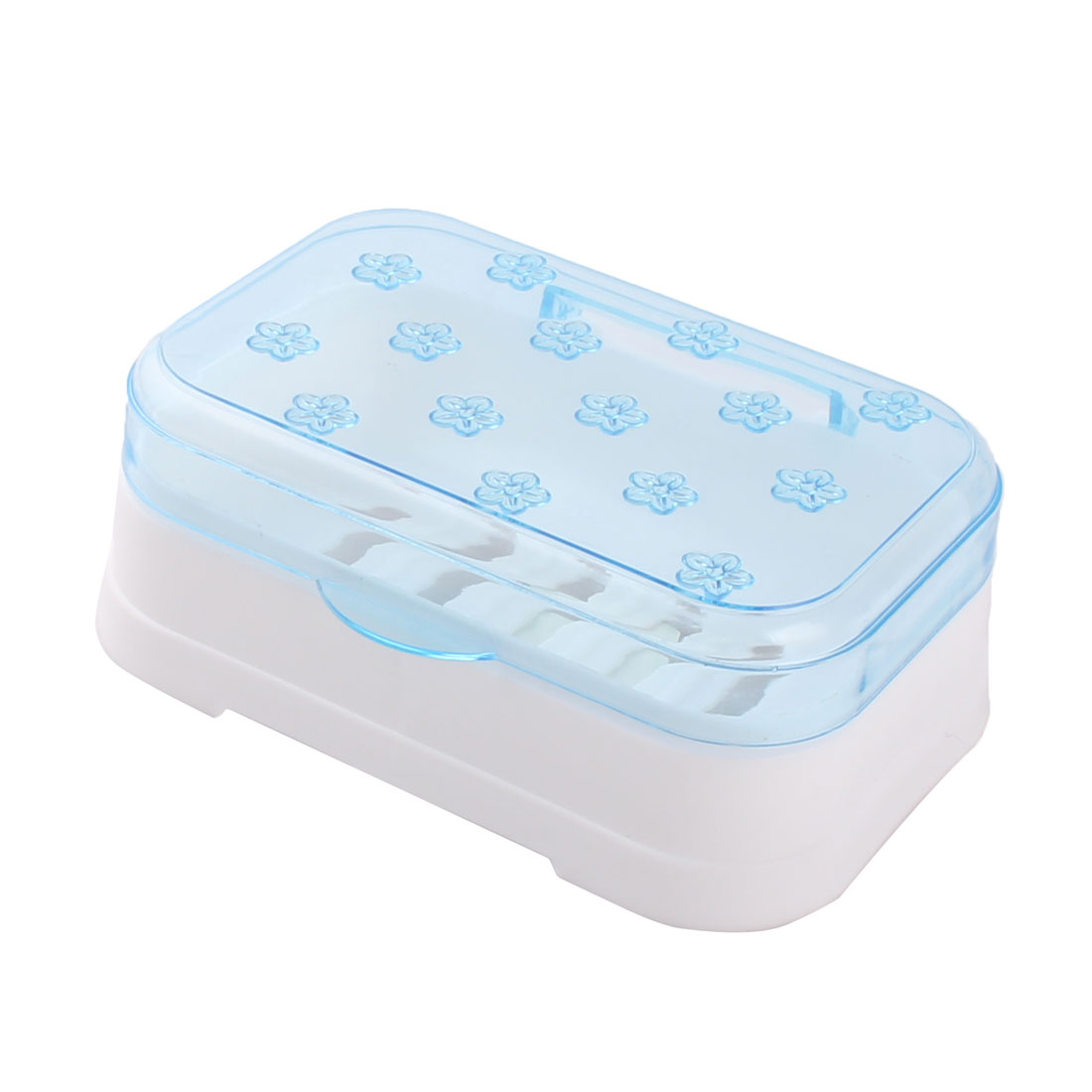 Household Bathroom Plastic Flower Pattern Hollow Out Soap Holder Container Box