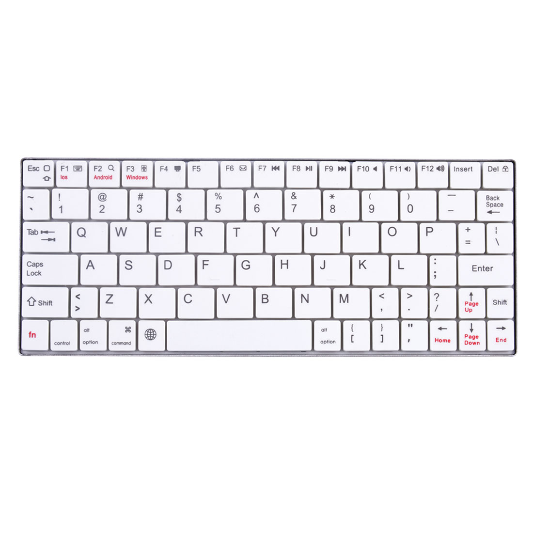 Stainless Steel Wireless 3.0 bluetooth Keyboard White for Tablet Computer Phone