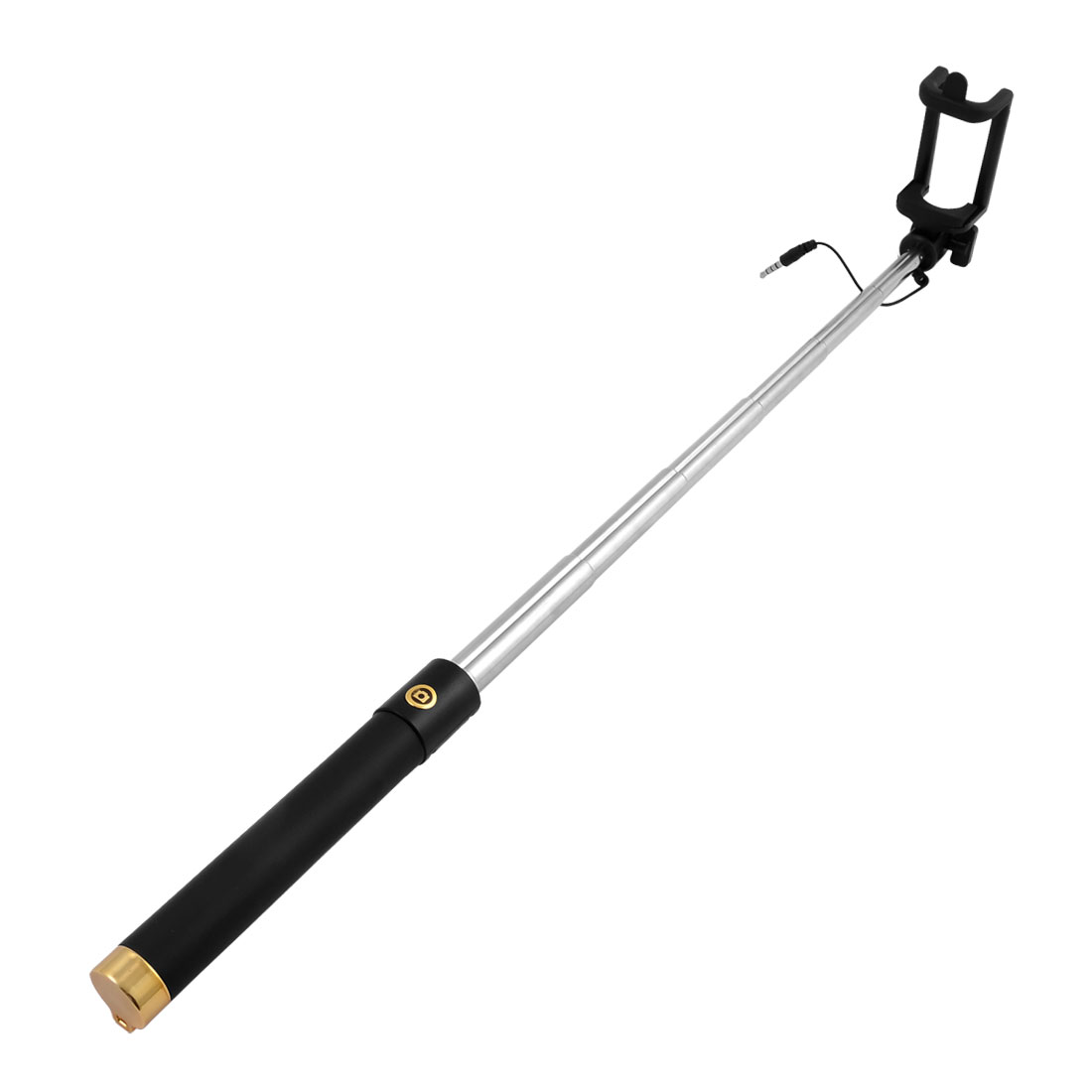 Phone Handheld Extendable Telescopic 6 Sections Selfie Stick Gold Tone