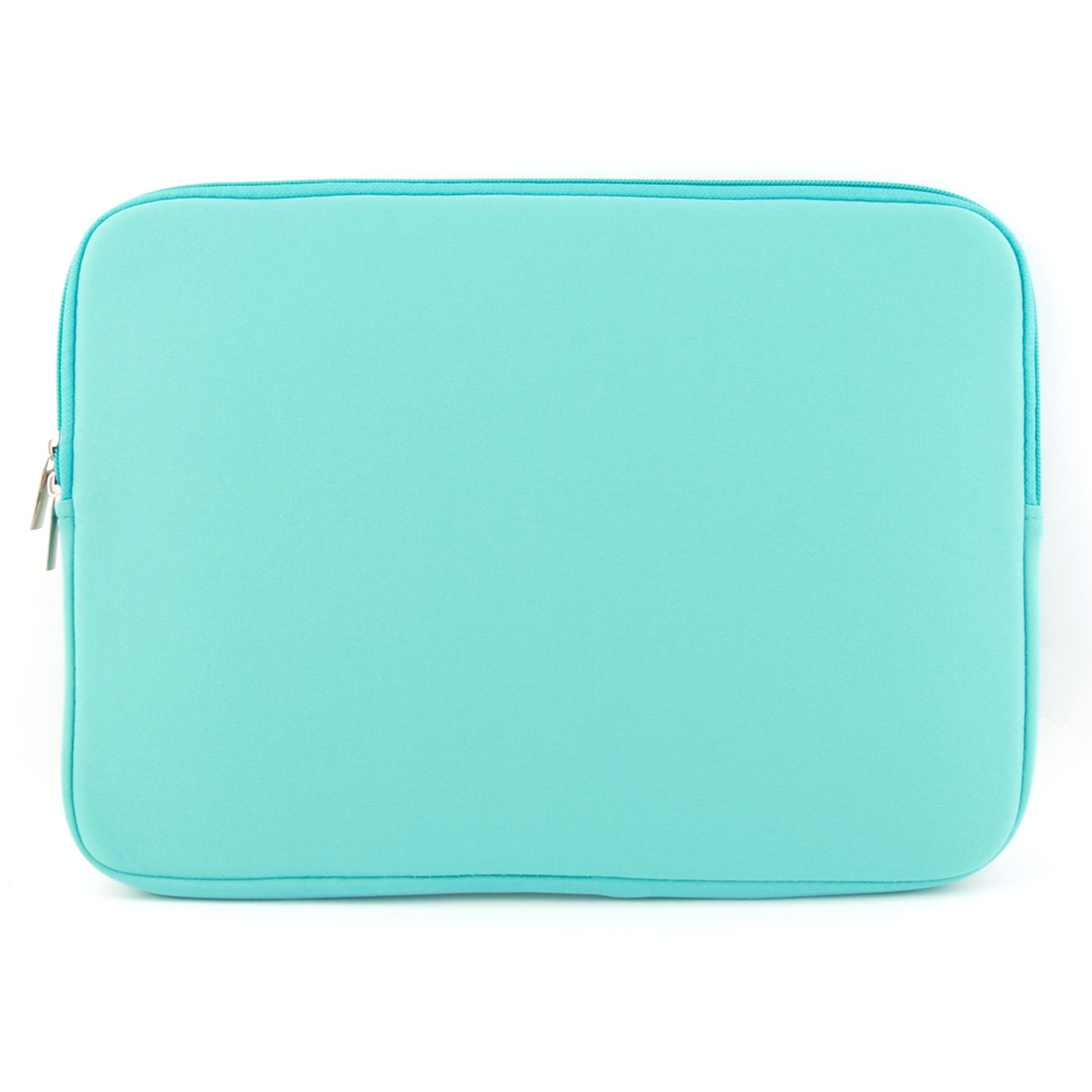 PC Notebook Neoprene Dual Zipper Pouch Laptop Sleeve Cover Sky Blue for Macbook 15.4 Inch