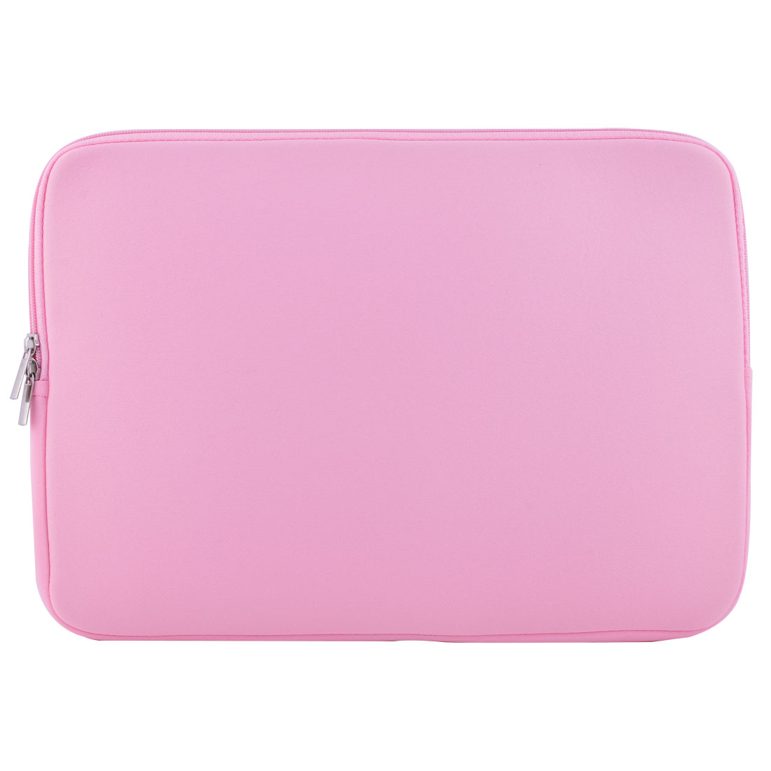Notebook Neoprene Dual Zipper Carry Pouch Laptop Sleeve Pink for Macbook 15.4 Inch